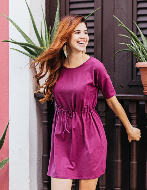 SIENNA tunic dress in Boysenberry