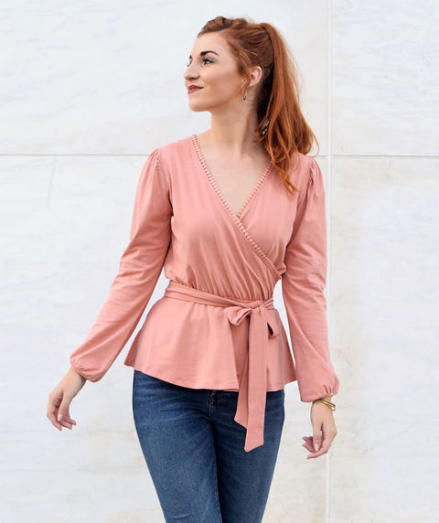 The GRETCHEN top in Rose Dawn