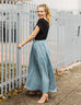 LEIGH maxi skirt in Smoke Blue