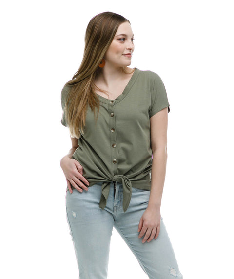 The FERN top in Olive