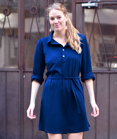 The MEGAN dress in Navy Peony