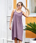KIERA twist-strap dress in Vintage Violet