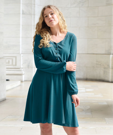 The WASHINGTON dress in Teal Ocean
