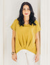 MCKENNA pleated top in Golden Fern