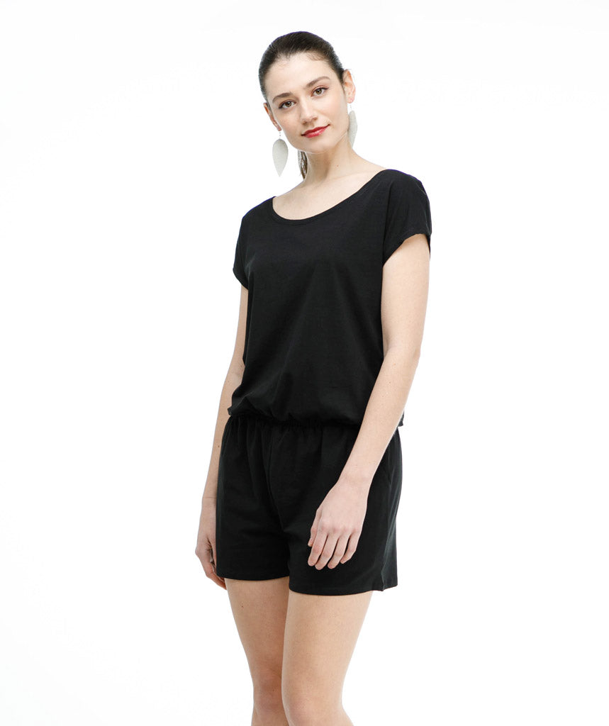 The HAVEN romper in Black