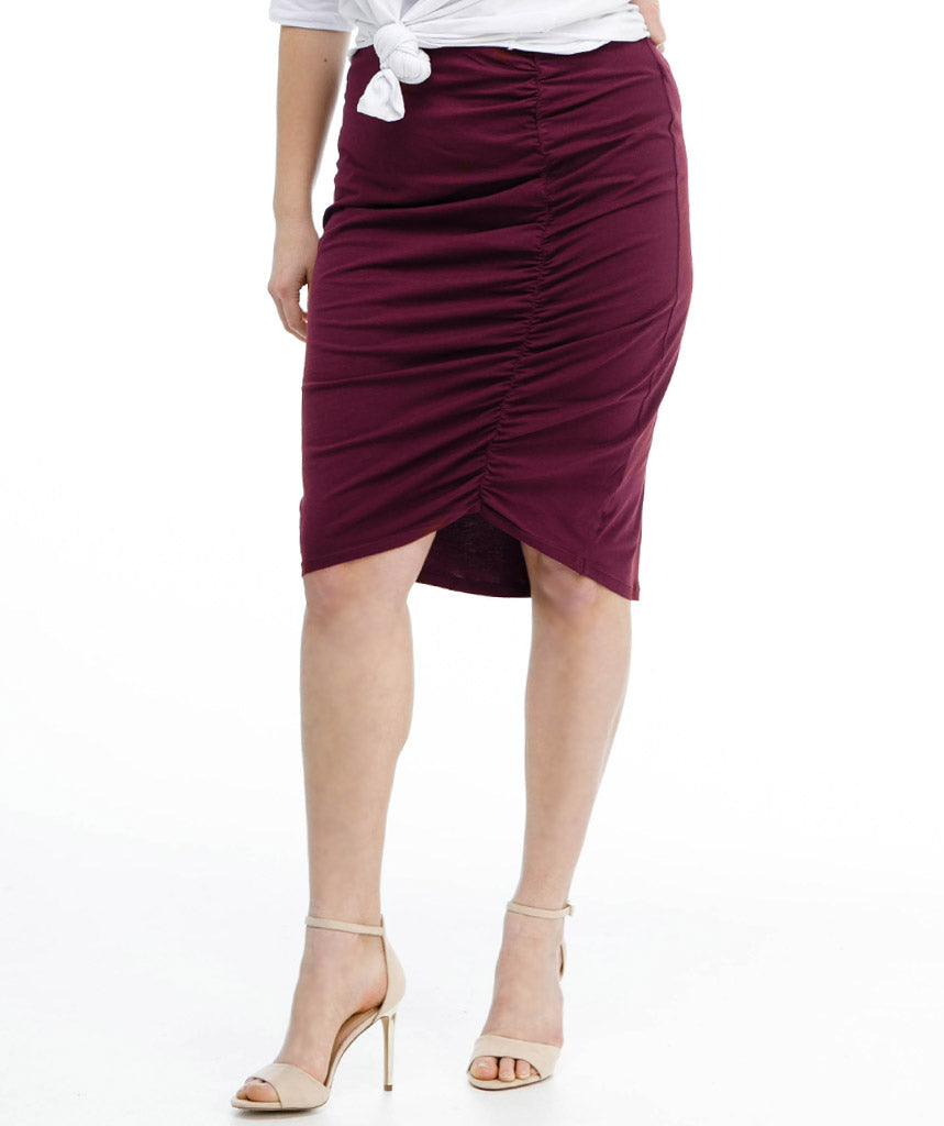 The AMIRA skirt in Deep Currant