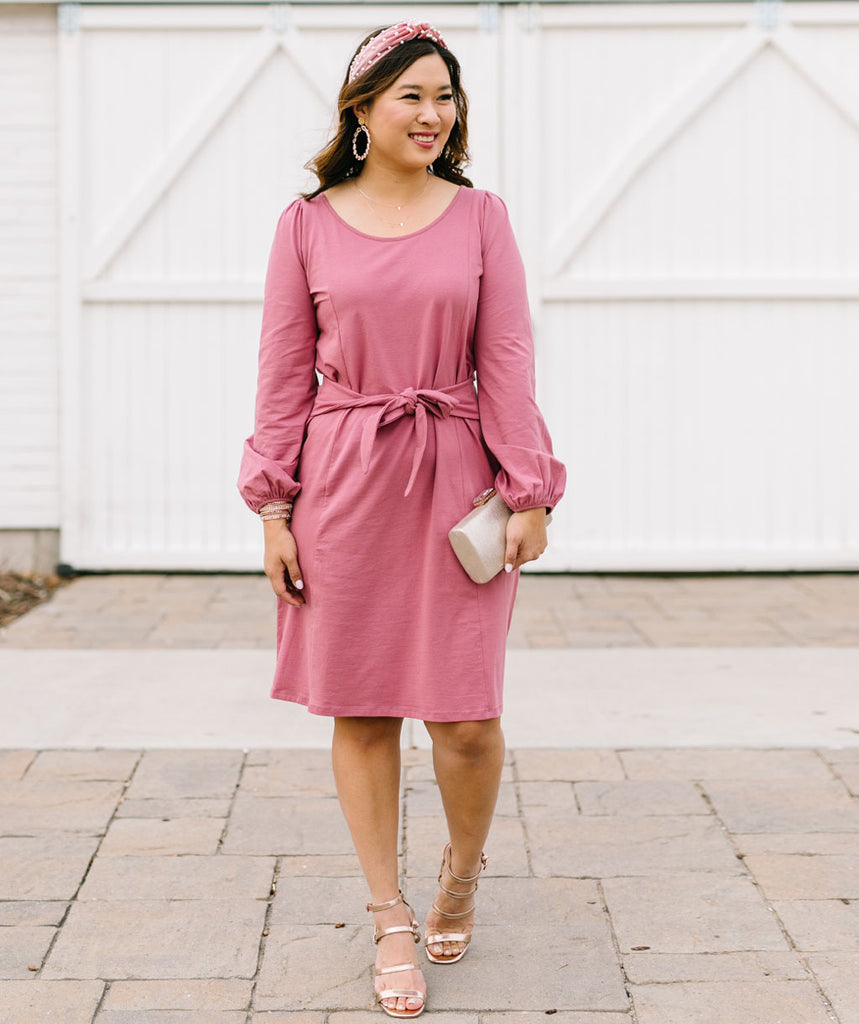 The SANDY dress in Sunset Pink