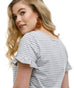 The SADIE tee in Grey Stripe