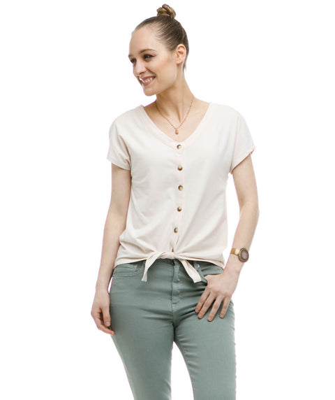 The FERN top in Ivory