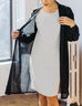 WREN lightweight duster in Black