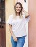 KARA relaxed top in White