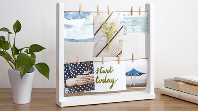 hangit desk multi photo display
