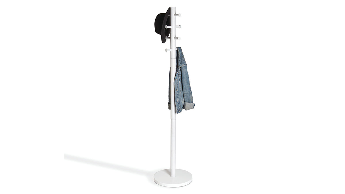 pillar coat rack (white)