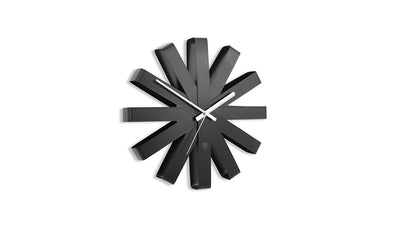 ribbon wall clock (black)