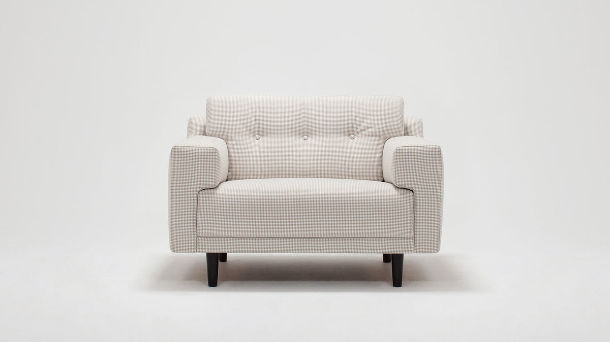 remi chair (button) - fabric