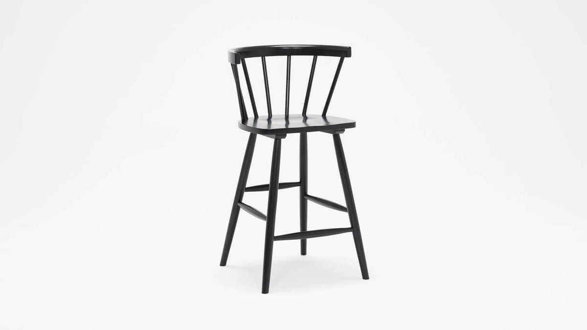 lyla arm stool (black)