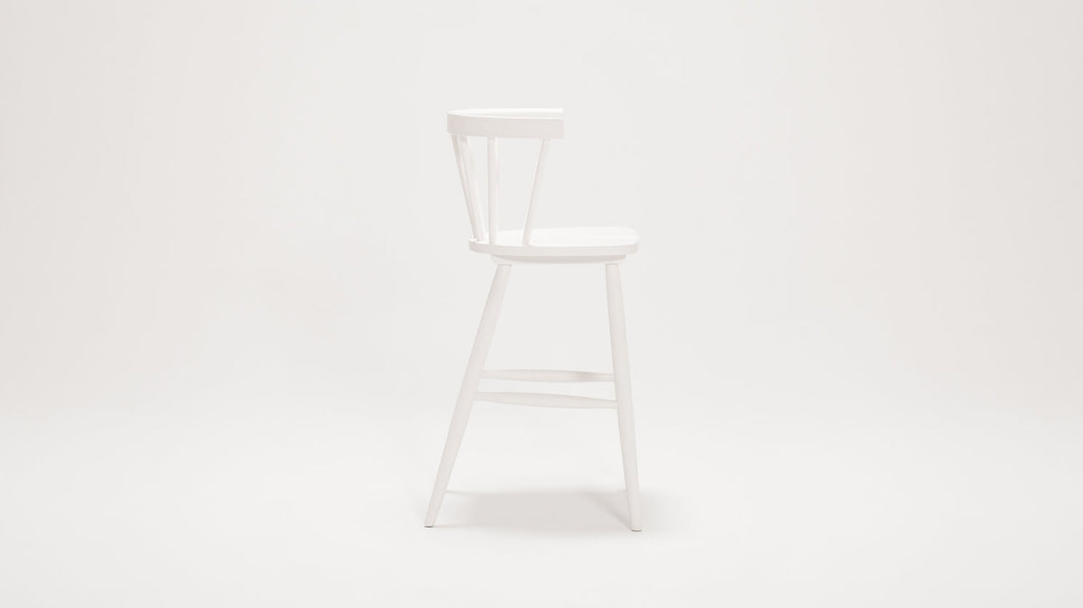 lyla arm stool (white)
