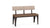 "architect 44"" bench (cushion seat/wood back)"