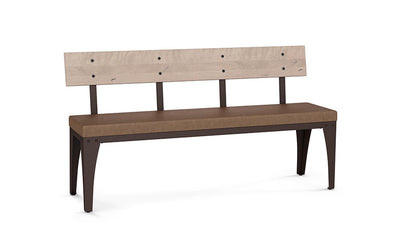 "architect 60"" bench (cushion seat/wood back)"