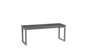 "dryden 44"" bench (wood seat)"