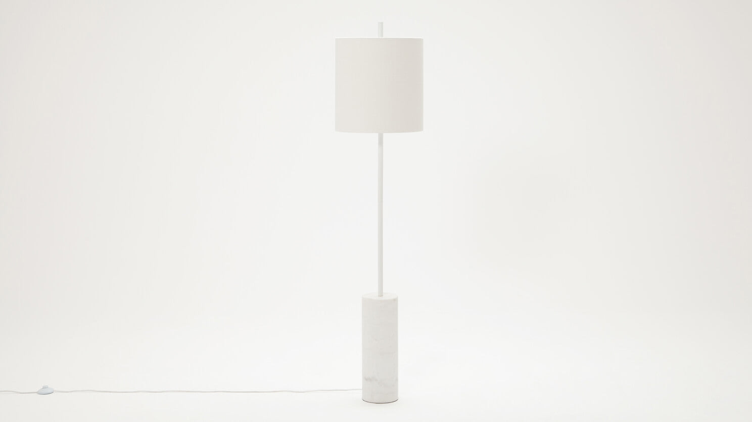 drum floor lamp (white)