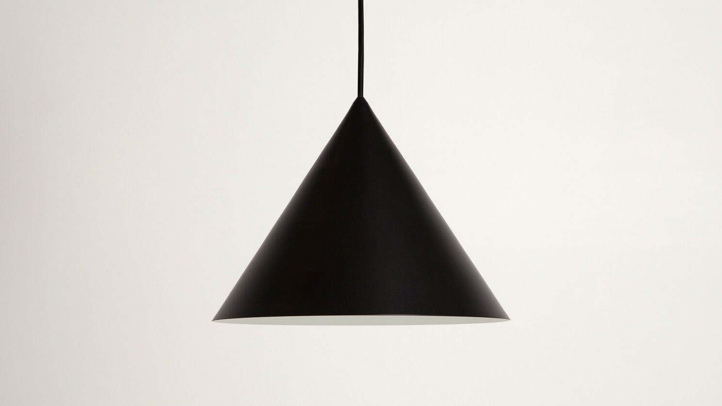 cone pendant lamp (small/black)