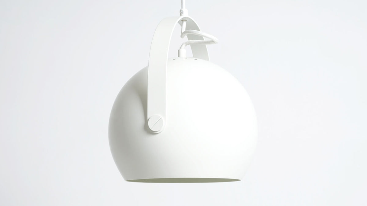 ball pendant lamp with handle (white)