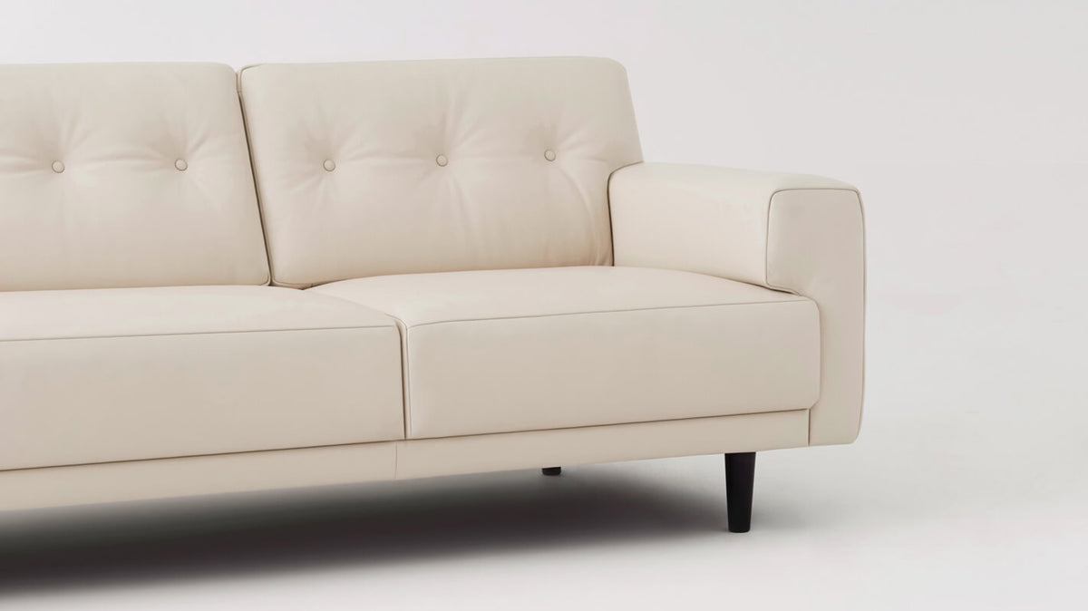 "remi 101"" sofa (button) - leather"