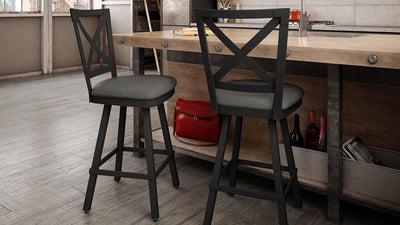 kent swivel stool (cushion seat)