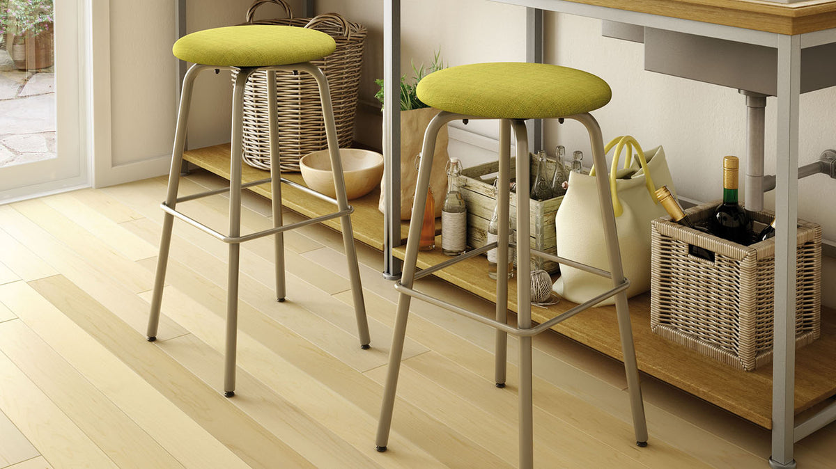 button swivel stool (cushion seat)
