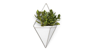 trigg large wall vessel (white/nickel)