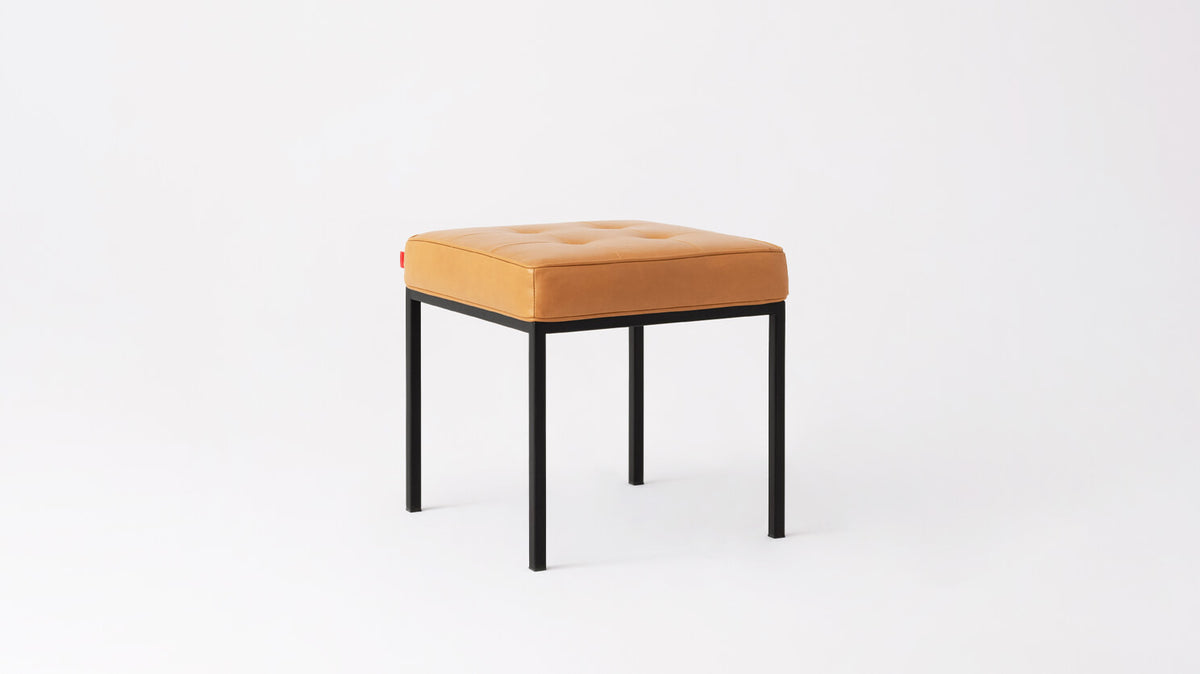 bank stool - leather