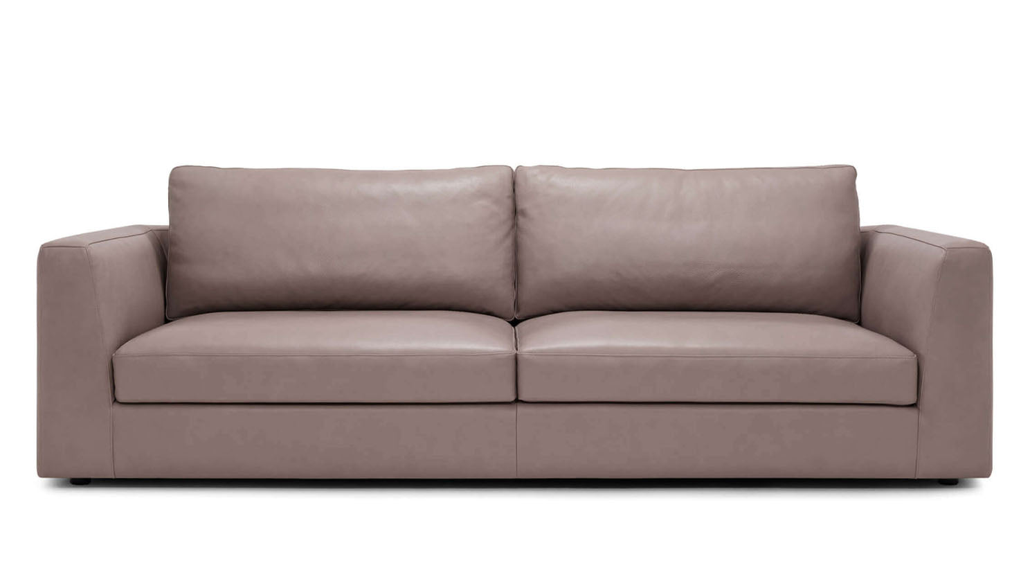"cello plush 96"" sofa - leather"