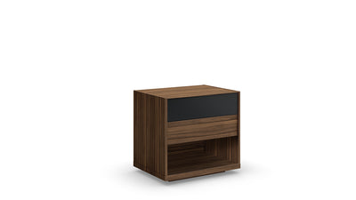 mimosa 2 drawer nightstand (glass drawer front)