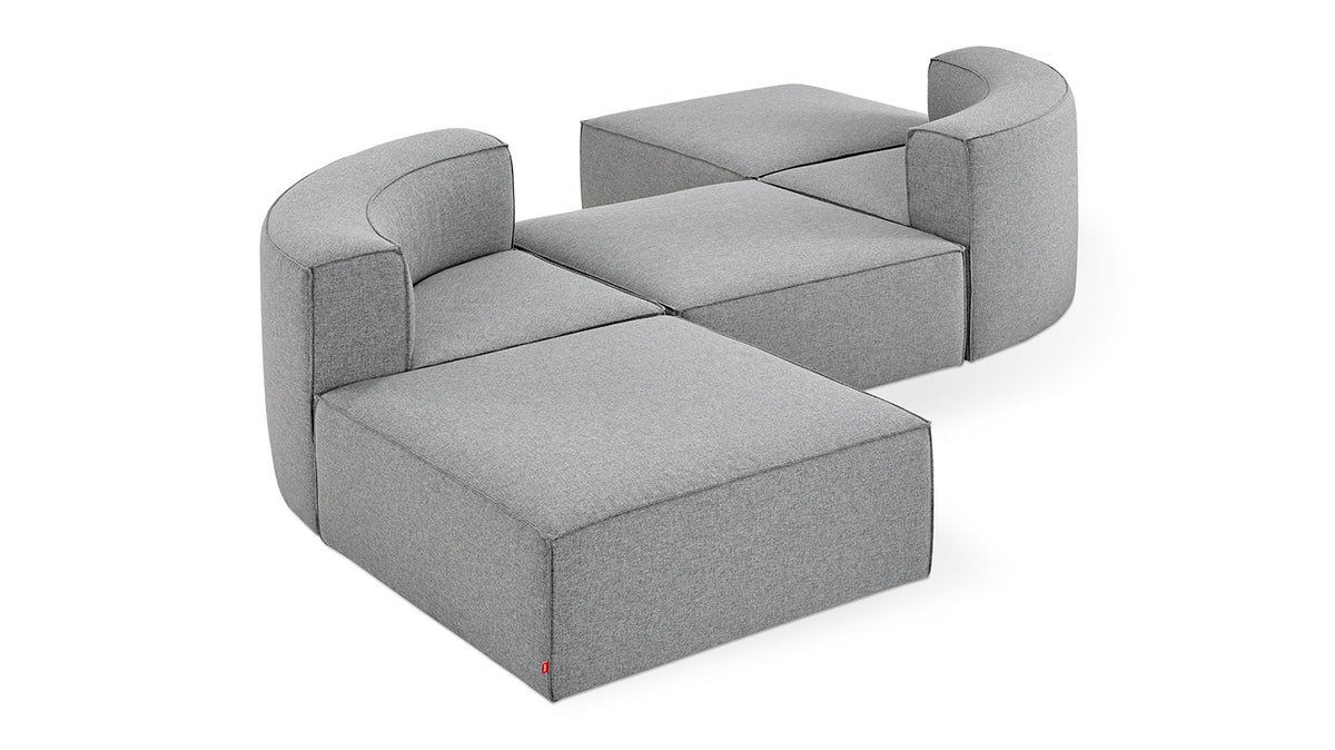 mix modular 5-piece sectional