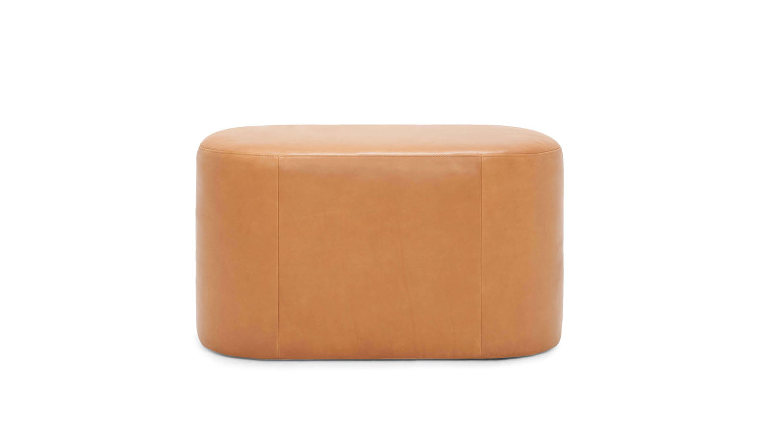 oval ottoman - leather
