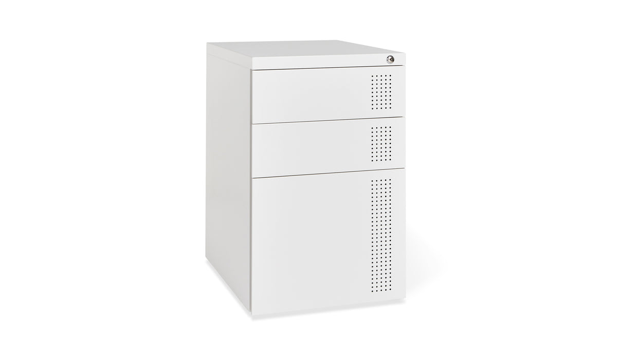 perf file cabinet (white)