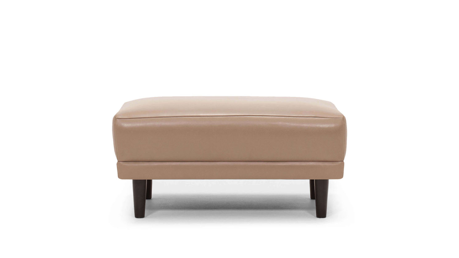 remi ottoman - leather