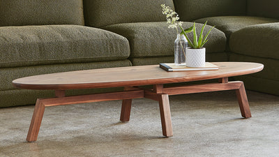 solana oval coffee table