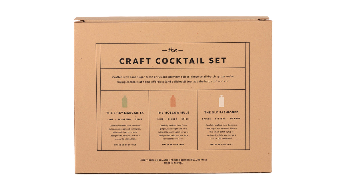 craft cocktail syrup 3-pack set - 8oz