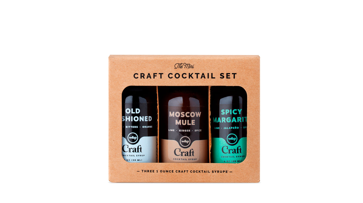 craft cocktail syrup 3-pack set - 1oz