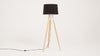 axle floor lamp - black