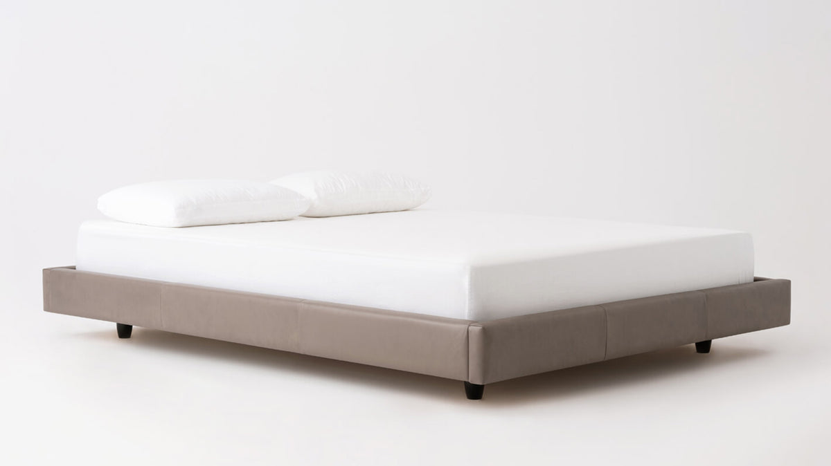 bento frame bed - leather