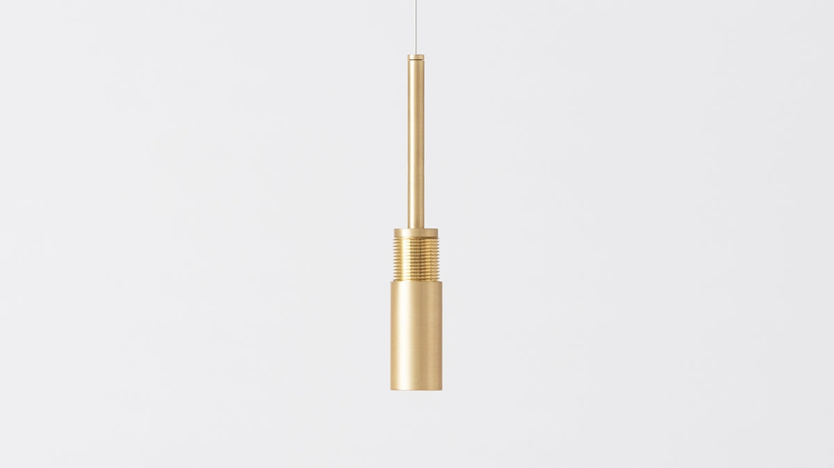 slimline single pendant lamp (brass)