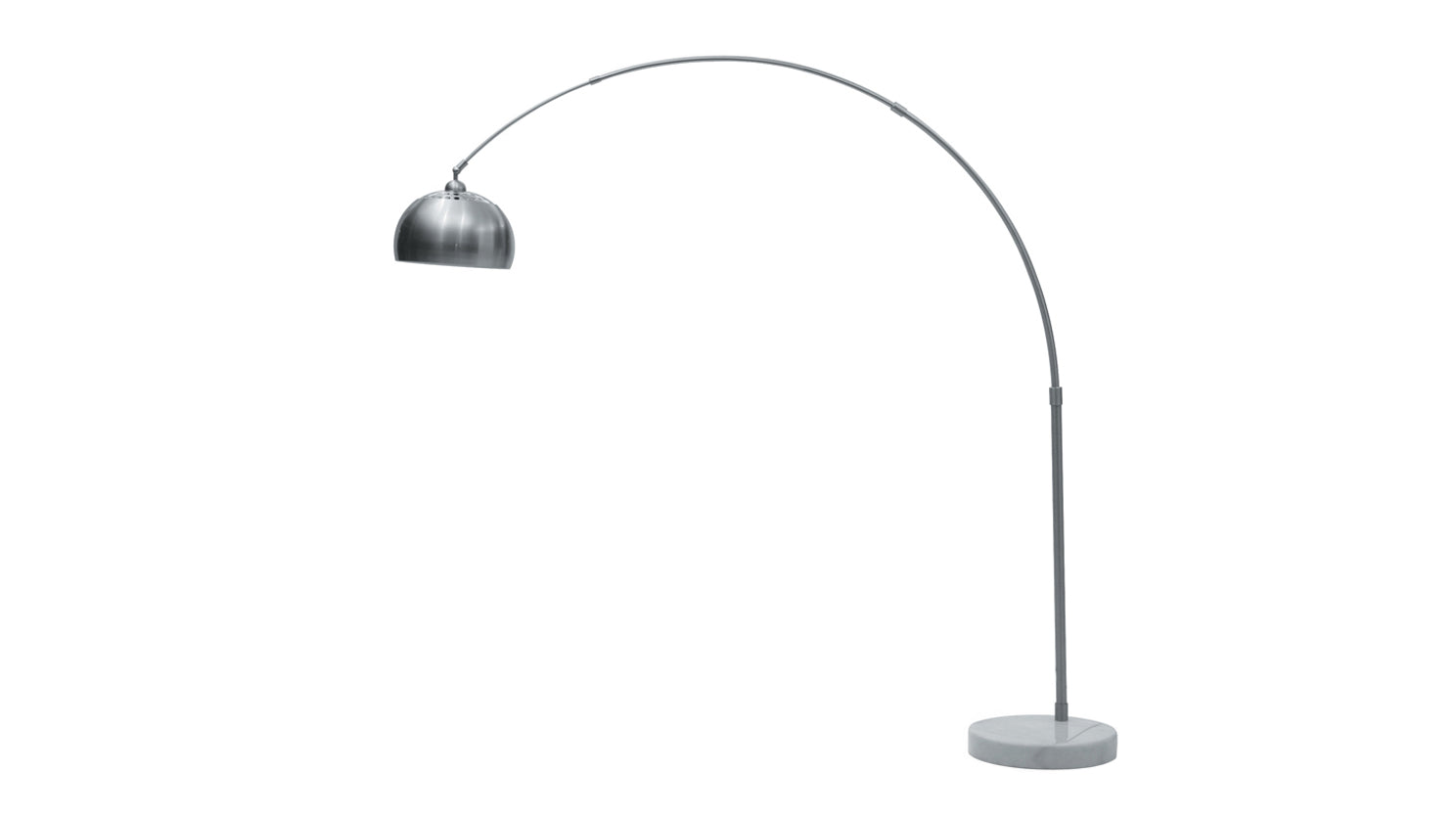 cast floor lamp (stainless steel)