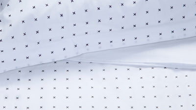 cross duvet set (navy)