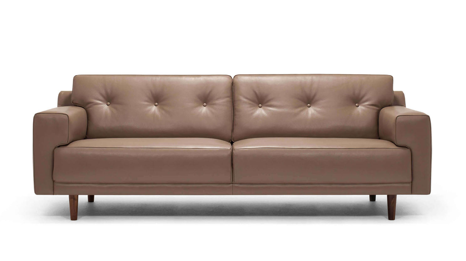 "remi 87"" sofa (button) - leather"