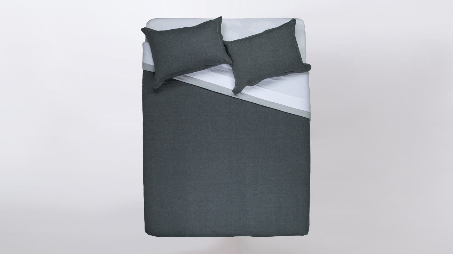 duplex duvet set (dark grey/light grey)