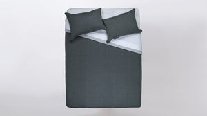 duplex duvet set - dark grey/light grey