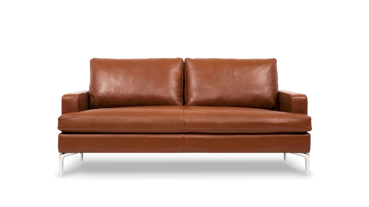eve grand loveseat - leather